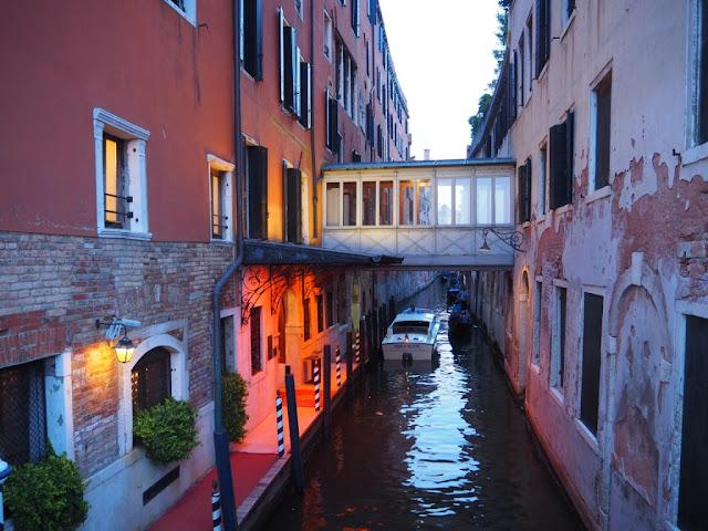 Jeden z hotelů v Benátkách, Venezia