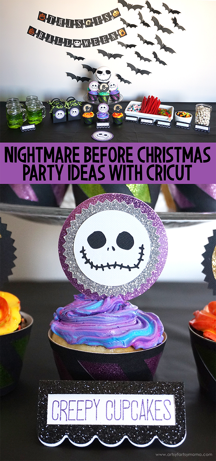Nightmare Before Christmas Party with Cricut