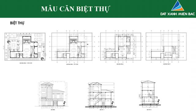 Hình ảnh thiết kế mẫu Biệt thự thuộc dự án Uông Bí New City