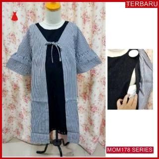MOM178D17 Dress Hamil Menyusui Alina Kantor Dresshamil Ibu Hamil