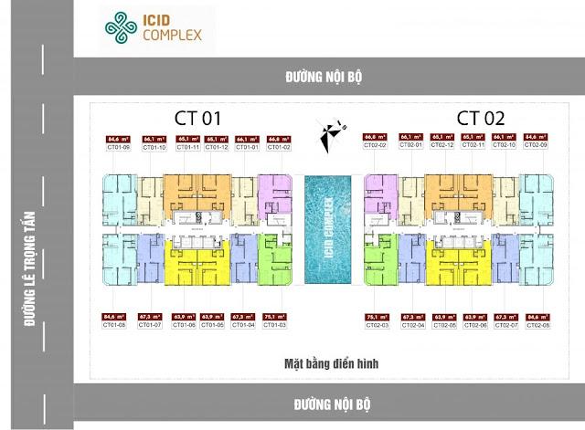 Mặt bằng tầng căn hộ ICID Complex