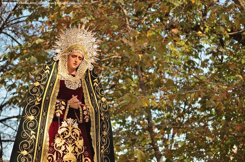 Maria Santisima de la Misericordia. Cofradia de las Bienaventuranzas. Leon. Foto. G Marquez. 2015. 10