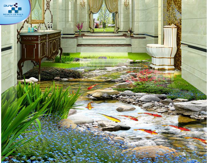 Imported wallpaper merchant 3d flooring wallpapers with for Floor 3d wallpaper