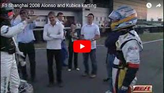 Robert Kubica Fernando Alonso karting Szanghaj
