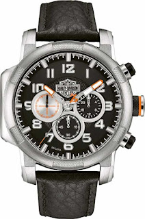 Harley Davidson Mens Chronograph Motorcycle Piston 76B172