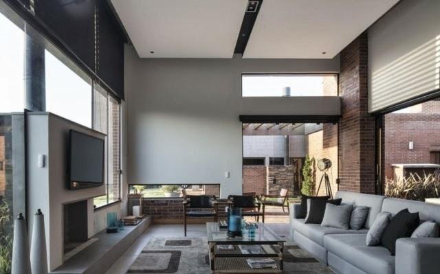 Diseño de sala grande y moderna