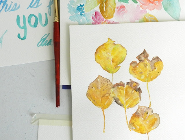 yellow leaves watercolor: grow creative blog