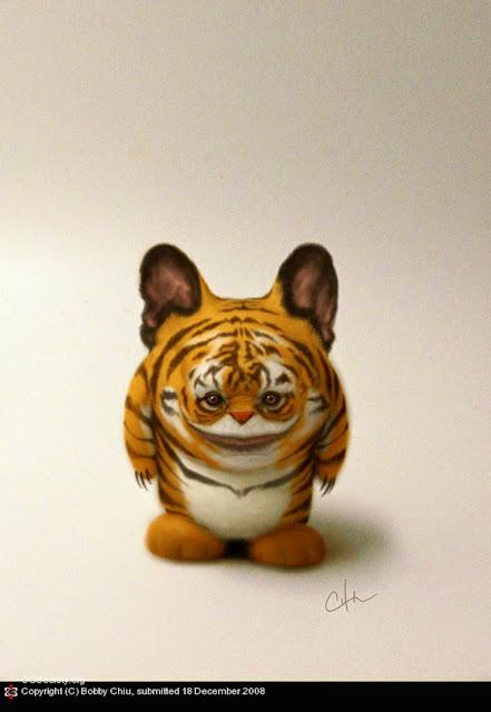 Ilustraciones de personajes surrealistas por Bobby Chiu