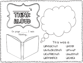 Sarah's First Grade Snippets: Think-Alouds with a freebie