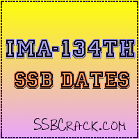 IMA-134th SSB Interview Dates CDSE (I) 2012