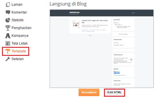 Template lalu Edit HTML