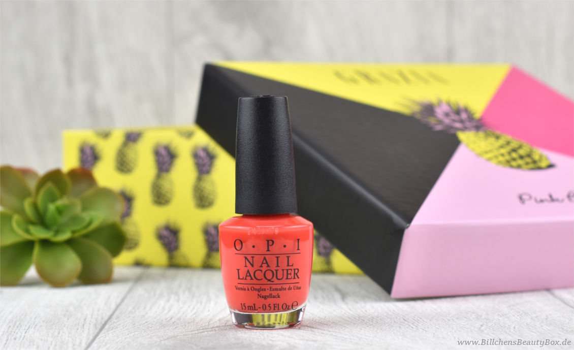 Pink Box Grazia - Juli 2017 - OPI Living On the Bula-vard!