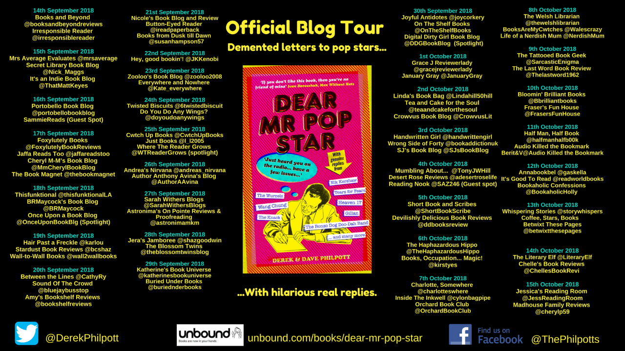 Dear Mr Pop Star Blog Tour