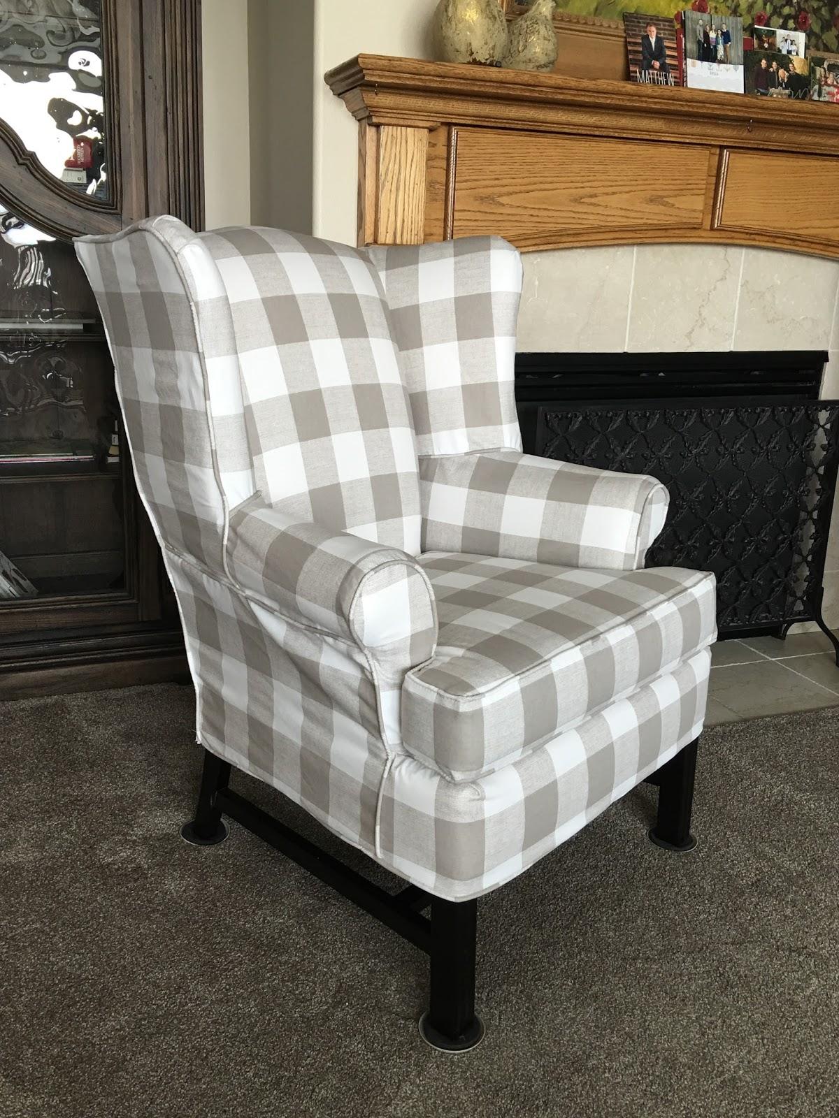 Buffalo Plaid Chair Velvet Bedroom Uk The Sewing Nerd Slipcovers