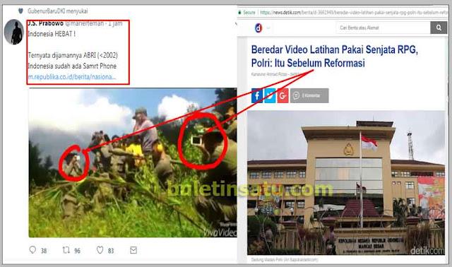 Video Latihan RPG, Polri: Itu Sebelum Reformasi, Prabowo: HEBAT Jaman ABRI Indonesia Punya SmartPhone