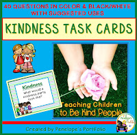 Kindness Character Education - Social Skills Task Cards
