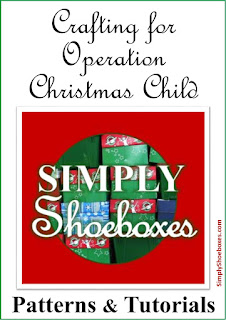 Crafting for Operation Christmas Child patterns and tutorials.