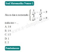 pembahasan soal sbmptn matematika