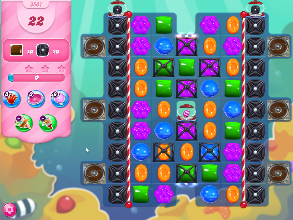 Candy Crush Saga level 3567