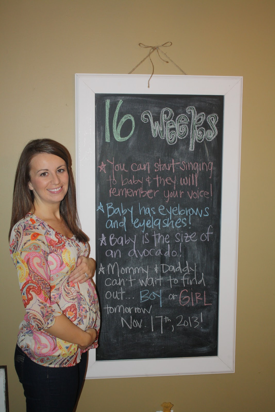 16 weeks and 1 day…heading into my 5th month of pregnancy!