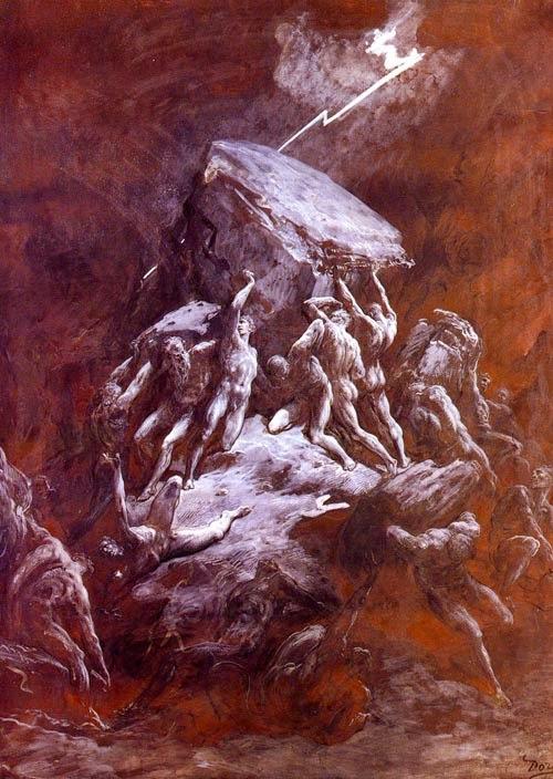 A Fúria de Titãs - Gustav Doré e suas pinturas ~ Pintor, desenhista e inlustrador francês