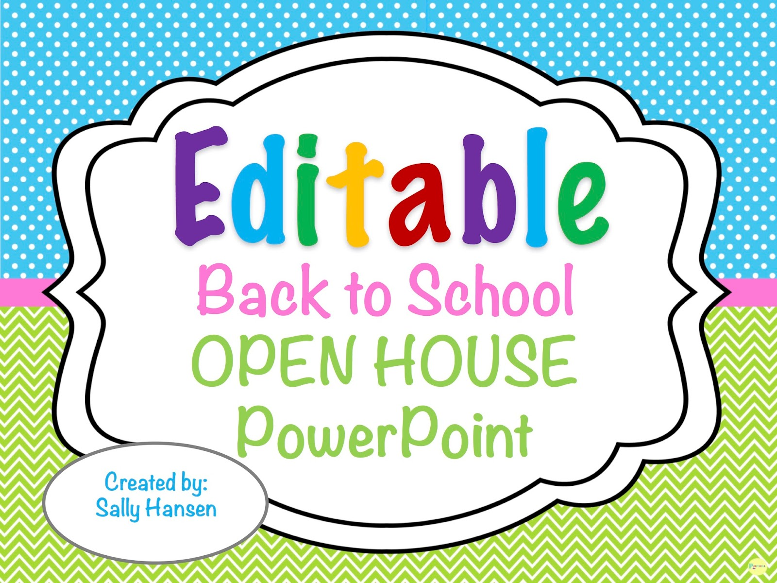 Editable Welcome Back to School Night/Open House/Meet The Teacher ...