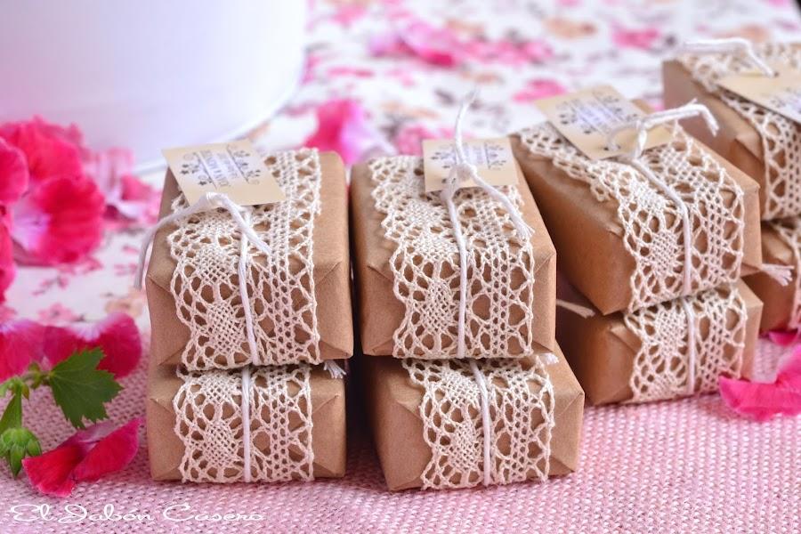 Jabones personalizados para detalles bodas vintage rustico