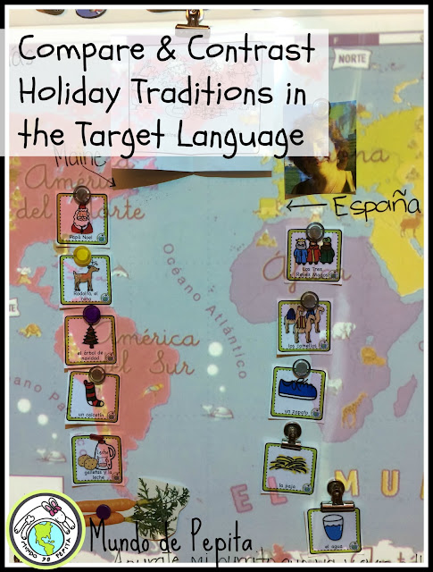 compare and contrast culture in the target language holidays