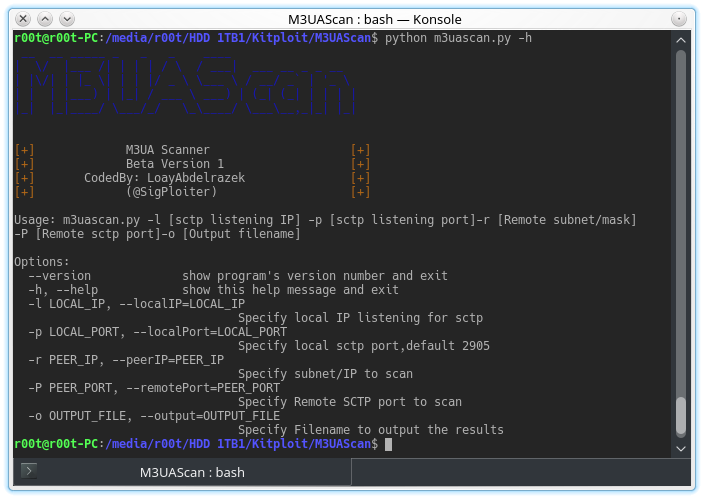 M3UAScan - A Scanner for M3UA protocol to detect Sigtran