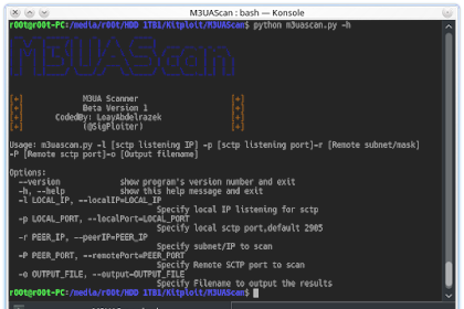 M3UAScan - A Scanner for M3UA protocol to detect Sigtran supporting nodes