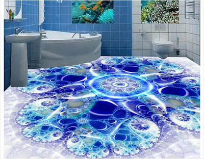 3D tiles for bathroom flooring
