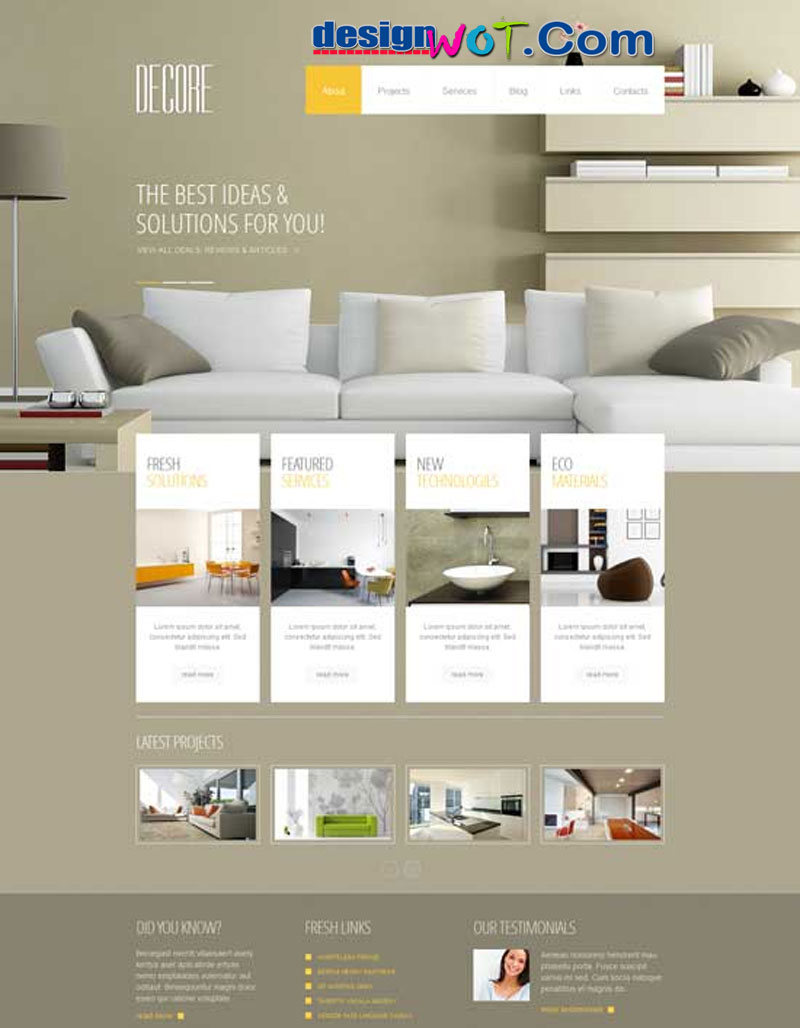 Decore Stylish Interior Design WordPress Theme