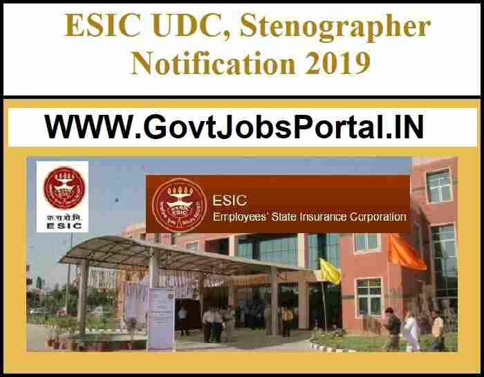 ESIC PUNJAB RECRUITMENT 2019 - Government Jobs for 83 Clerk