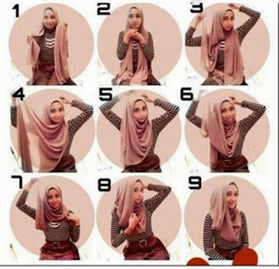 cara menggunakan hijab segi empat modern untuk remaja