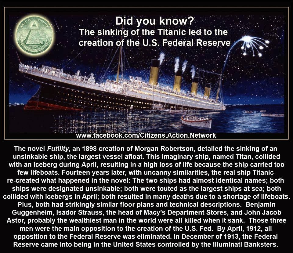 The Vatic Project Titanic Deliberately Sunk By Jp Morgan
