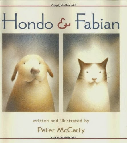 Hondo & Fabian by Peter McCarty, part of children's book review list about cats