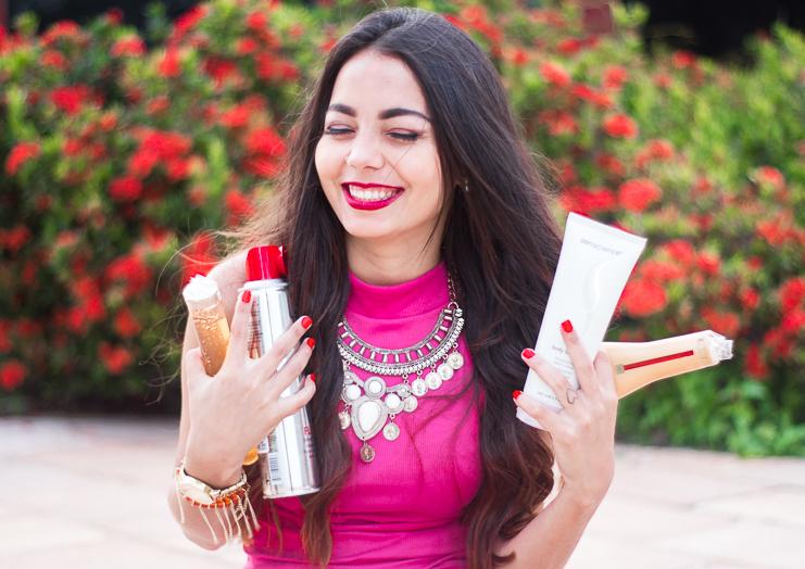 produtos para cuidados do cabelo e da pele