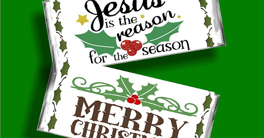 Jesus is the Reason for the Season Christmas Candy Bar Wrapper