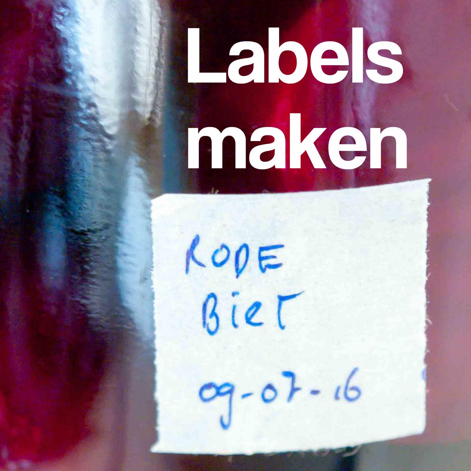 labels maken diy jam weckpot