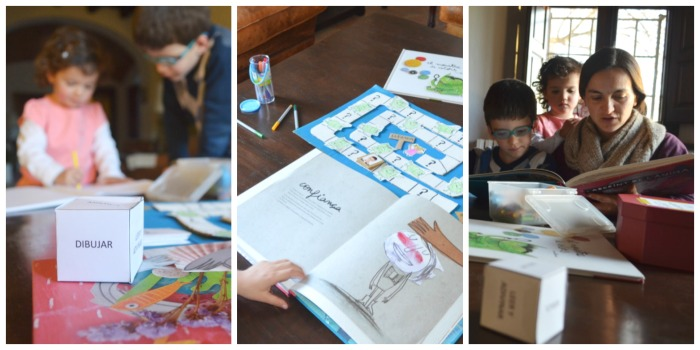 educacion emocional y cuentos, juego DIY laberinto emociones, funcionamiento