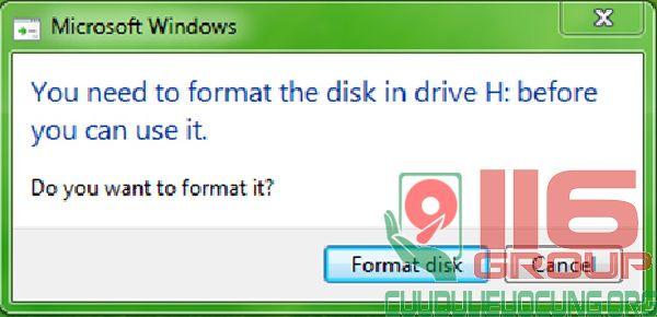 Cách sửa USB báo lỗi Format