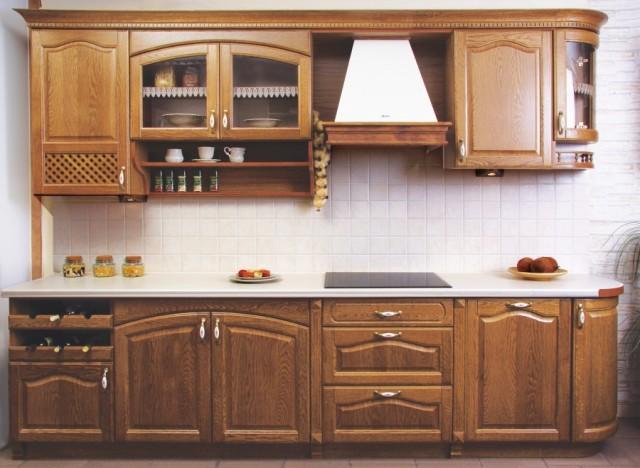 Кухня серое дерево