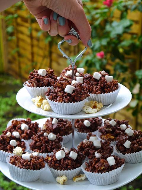 The Betty Stamp Lifestyle Blog Popcorn Salted Chocolate Rice Crispy Cakes