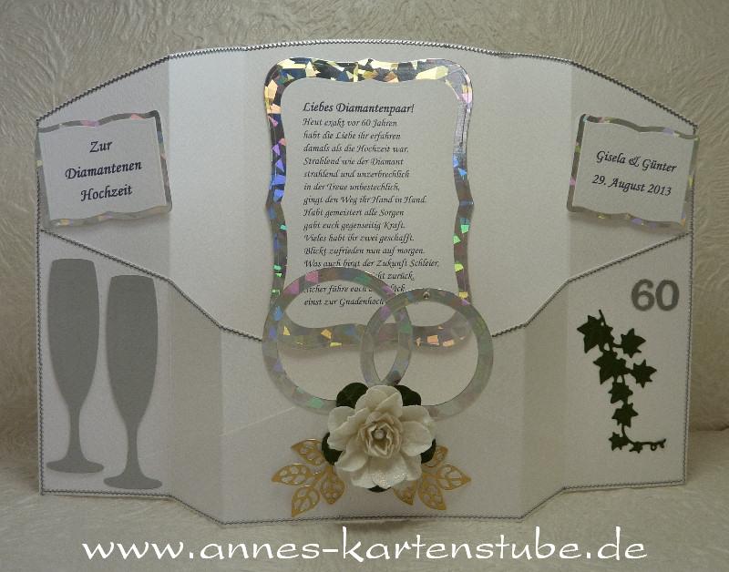 Annes Kartenstube Eine Isicard zur Diamantenen Hochzeit