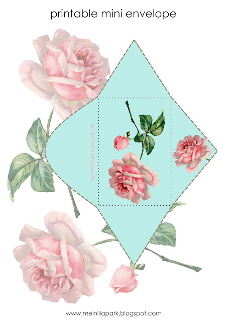 Free printable mini envelope + DIY planner pocket inspiration for rose lovers