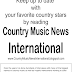 Country Music News International Newsletter March 29. 2017