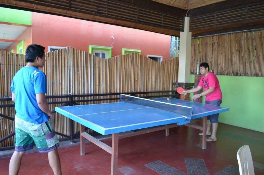 Ping pong area at La Solana Suites in Puerto Galera