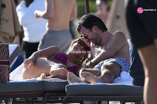 Sylvie Meis  body huge    in tiny bikini WOW Beach Side  Pics Celebs.in Exclusive 004