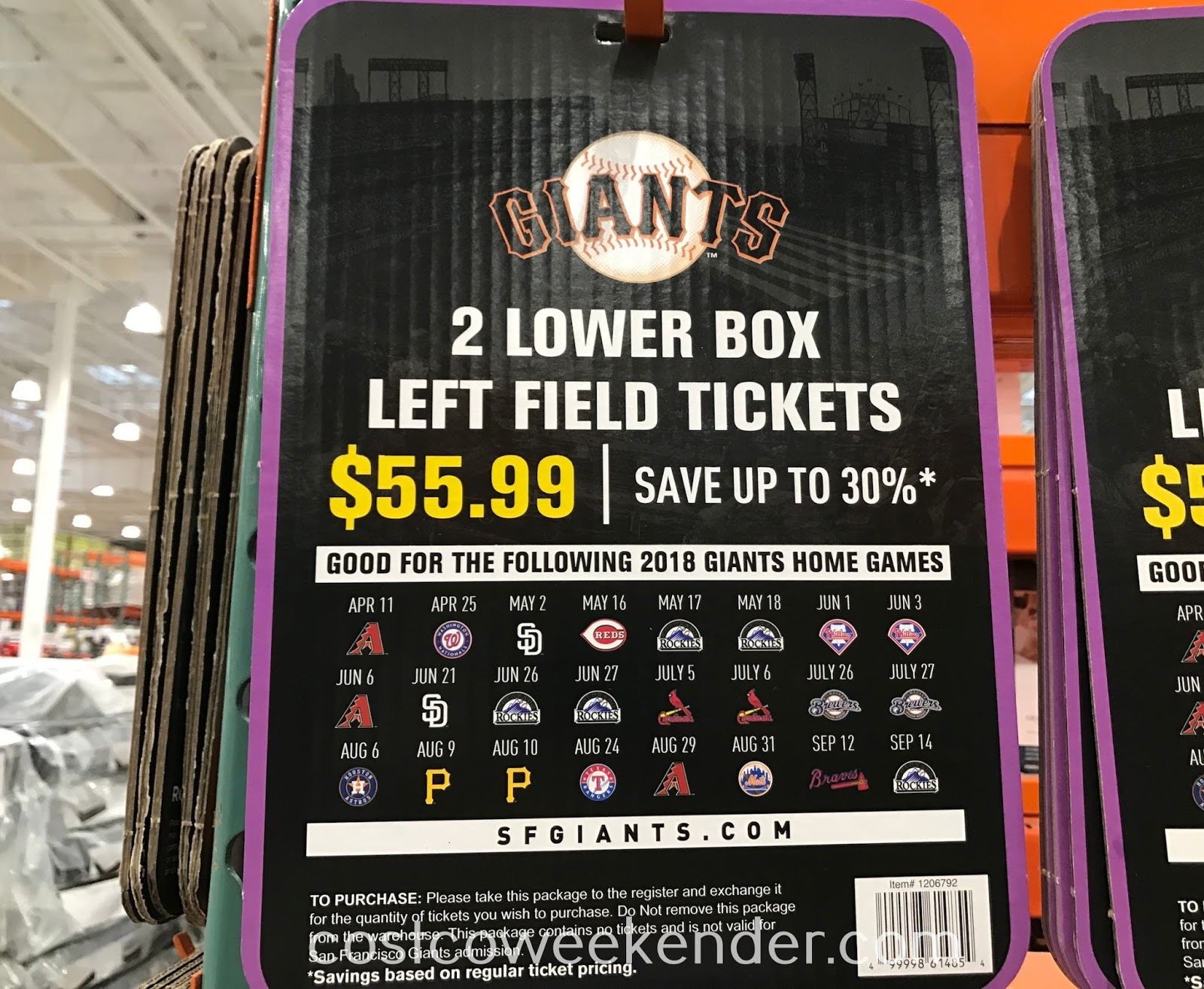 San Francisco Giants 2 Lower Box Left Field Tickets 2018: great for a day at the ballpark