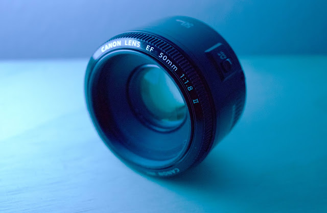 Photo of the Canon 50mm lens
